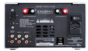 ENIGMA2.0 CDプレーヤー アンプ チューナー オーディオアナログ バックパネル