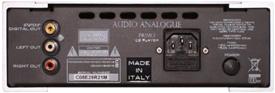PRIMOCDP2.0 オーディオアナログ CDプレーヤー バックパネル