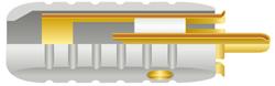 アルミコネクター オーディオインターコネクトケーブル 金メッキOFC接触 ワイヤーワールド