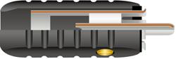 RCAM8.5MM アルミコネクター 絶縁処理 オーディオインターコネクトケーブル 金メッキOFC接触 ワイヤーワールド