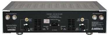 パワーアンプ イタリア オーディオアナログ Donizetticento 背面 ドニゼッティ Specification Audioanalogue