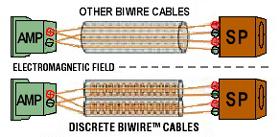 スピーカーケーブル バイワイヤー シングルワイヤー ワイヤーワールド 電磁界