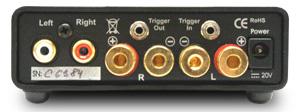 Amp Box S パワーアンプ 小型オーディオコンポ Pro-Ject Audio プロジェクトオーディオ オーストリア リアパネル