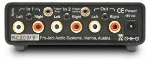 Pre Box S プリアンプ プロジェクトオーディオ Pro-Ject Audio リアパネル