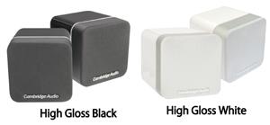 min20 高音質小型サテライトスピーカー Minx ミンクスサテライトスピーカー ラインナップ イギリス CambridgeAudio ケンブリッジオーディオ ライフスタイルコンセプト  サラウンドホームシアターオーディオ  スタイリッシュスピーカー カラーと仕上げ HighGlossWhite&Black ブラック&シルバー