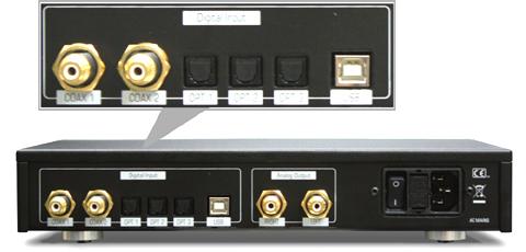 Esseisioエッセンシオ 192kHz/32bit USB DAC イタリア NorthStarDesign ノーススターデザイン 背面構造バックパネル