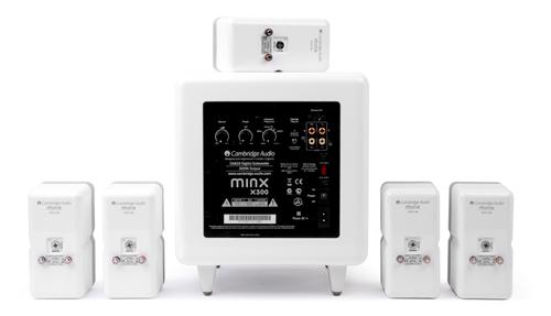 Minx ミンクスシステムセット min325 5.1サラウンドホームシアター サテライトスピーカー サブウーファー イギリス CambridgeAudio ケンブリッジオーディオ 背面構造