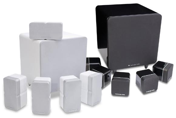 Minx ミンクスシステムセット サテライトスピーカー サブウーファー イギリス CambridgeAudio ケンブリッジオーディオ ライフスタイル サラウンドホームシアターオーディオ 高音質 小型 スタイリッシュスピーカー ホワイトカラー ブラックカラー