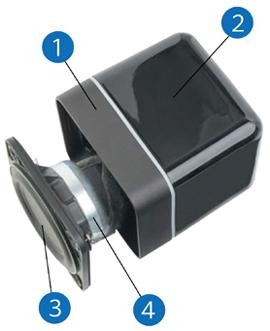 高音質小型サテライトスピーカー Minx ミンクス イギリス CambridgeAudio ケンブリッジオーディオ ライフスタイルコンセプト  サラウンドホームシアターオーディオ  スタイリッシュスピーカー  内部構造