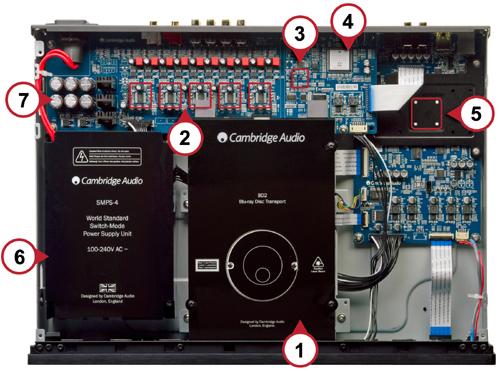 3D Blu-ray SACD ユニバーサルディスクプレーヤー イギリス ケンブリッジオーディオ Cambridge Audio 内部構造 Azur751BD