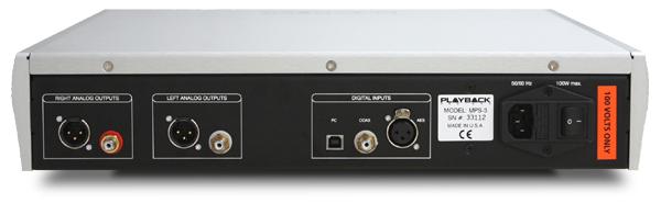 MPS-3 ハイエンドCDプレーヤー Playback Designs プレイバックデザインズ USB入力付属 384kHz/24bit DSD6.1MHzまで対応 バックパネル