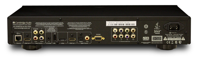 3D Blu-ray SACD ユニバーサルプレーヤー イギリス ケンブリッジオーディオ Cambridge Audio バックパネル Azur651BD