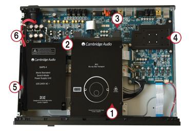 3D Blu-ray SACD ユニバーサルプレーヤー イギリス ケンブリッジオーディオ Cambridge Audio 内部構造 Azur651BD