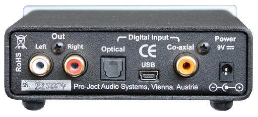 DAC Box S USB USB DAC 小型オーディオコンポ Pro-Ject Audio プロジェクトオーディオ リアパネル