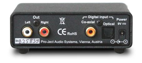 DAC Box S FL DAコンバーター 小型ステレオコンポ Pro ject Audio プロジェクトオーディオ リアパネル
