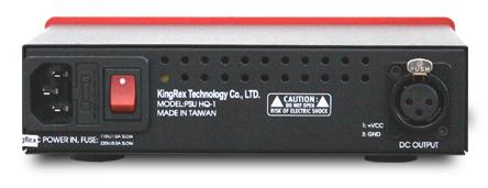 HQ-1 ヘッドフォンアンプ プリアンプ KingRex キングレックス リアパネル