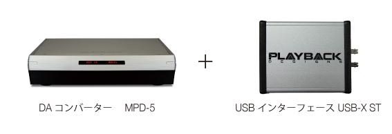 MPD-5X Playback Designs プレイバックデザインズ highendaudio ハイエンドオーディオ MPD-5 DA コンバーターDAC + USBX 外付けUSB機能アップグレードボックス